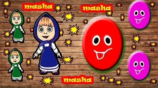 Little Baby Fun Learning Colors Shapes for Children Masha Bear Wooden Toys Kids Video Baby Monster