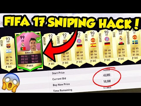 FIFA 17 SNIPING HACK!⛔💻💰 SNIPE ANY PLAYER EASILY!!! (FIFA 17 Ultimate Team Sniping Method)