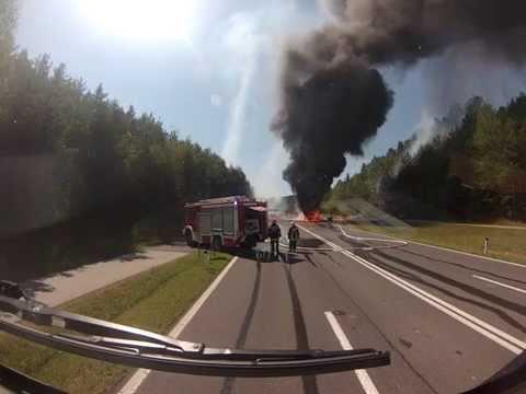 Einsatzfahrt zum LKW Brand am 16.08.2014
