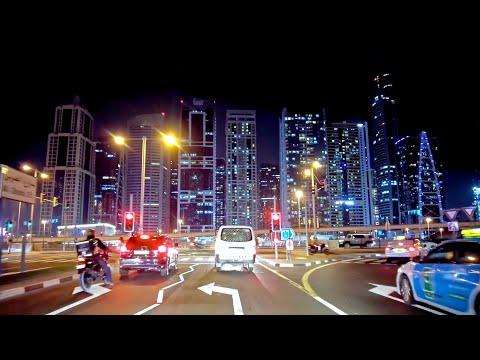 Dubai Marina & Jumeirah Beach Residence (JBR) Night Drive |