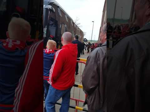Dirty scum arriving at Pittodrie