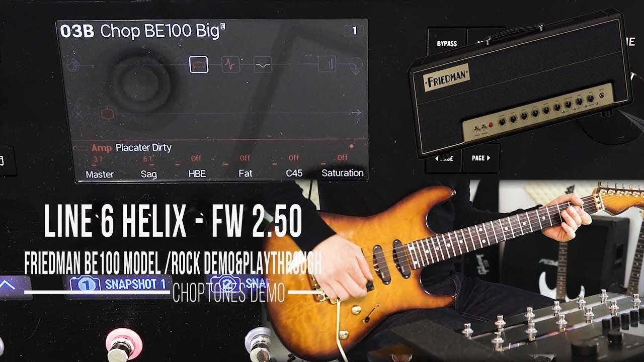 line 6 helix series fw friedman be 100 model rock demo playthrough placater dirty. Black Bedroom Furniture Sets. Home Design Ideas
