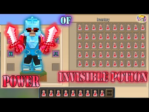 POWER OF 64+ INVISIBLE POTION In Bed Wars   Blockman Go Gameplay (Android , IOS)
