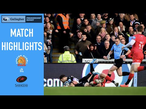 Highlights Exeter Chiefs V Saracens Rd 7 Gallagher Premiership
