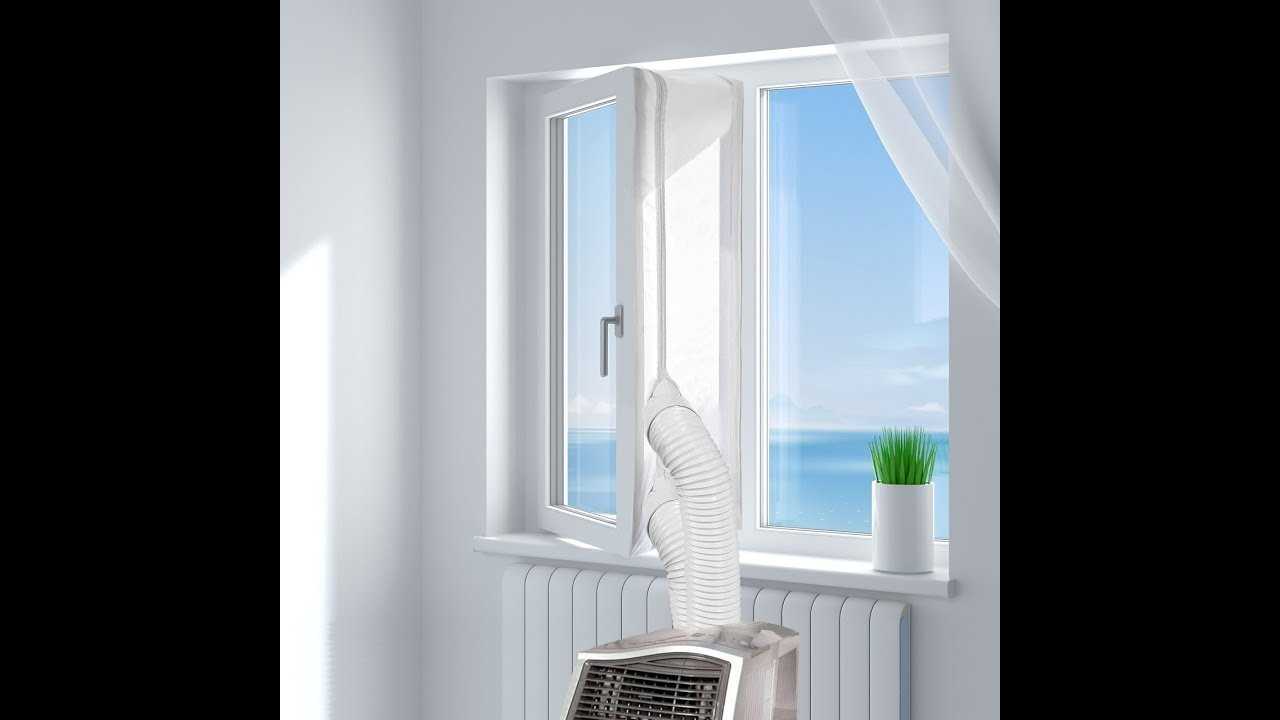 Sello de Ventanas Impermeable de 400cm Anti UV F/ácil de Instalar Anti-Mosquitos Molbory Aislamiento de Ventanas para Aire Acondicionado Port/átiles y Secadoras Sello de Ventana