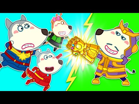 Wolf Family | Wolfoo Family Pretend Play Superhero And Save The Farm