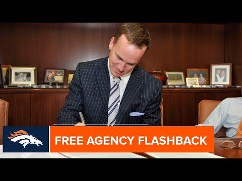 Looking Back At Peyton Manning's Free Agency In 2012 | Denver Broncos