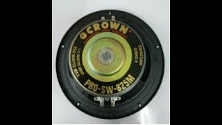 Unboxing Crown PRO SW 825M 8 inch Subwoofer 2 terminal