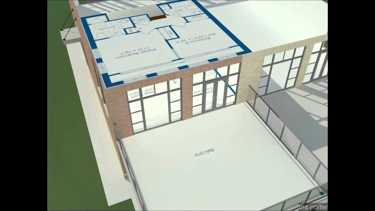 The Porter Unit Of Stacked Townhouse Project Fairground 3d