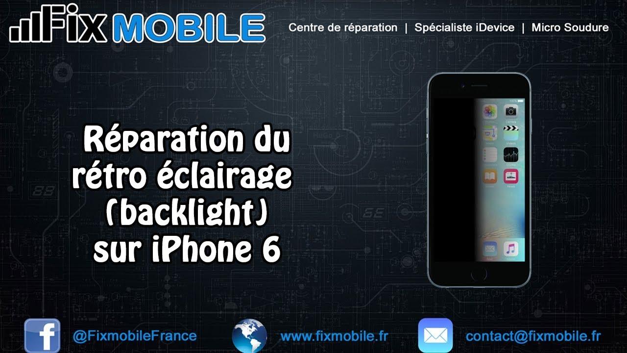 Reparation Carte Mere Retro Eclairage Sur IPhone 6 Ecran Noir Mais Vibre Apres Changement