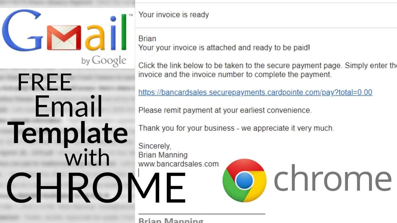 email template software tool free google chrome plugin youtube