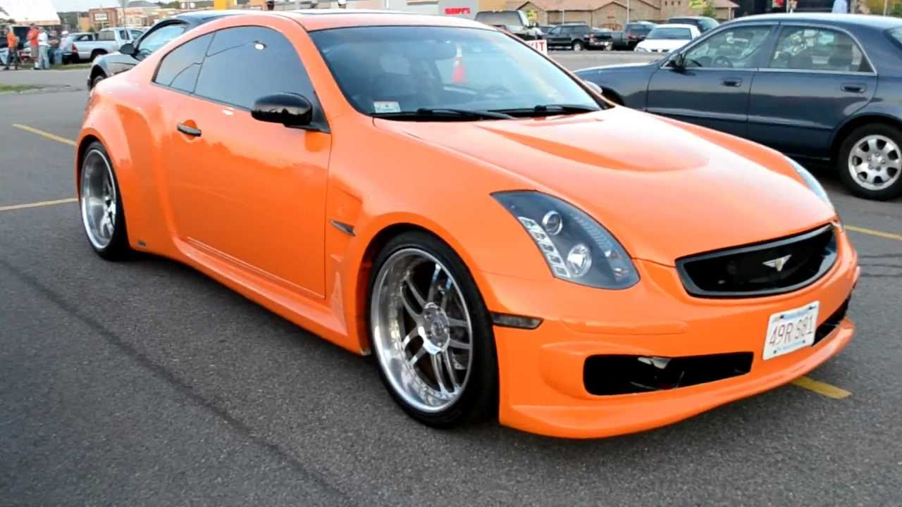 Custom orange g35 veilside fortune widebody on 20s youtube vanachro Gallery