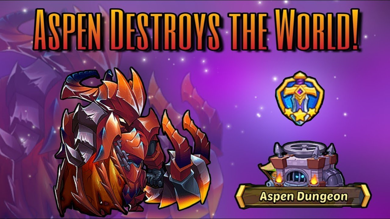 Idle Heroes (O+) - Free Team Up Arena and Aspen Dungeon Wreckage! - Aspen Is AMAZING
