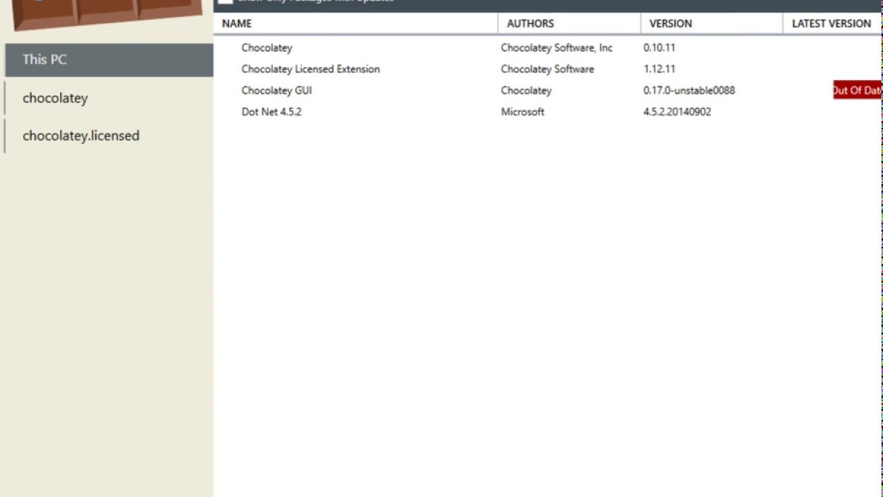 Chocolatey GUI for Business Access to Settings