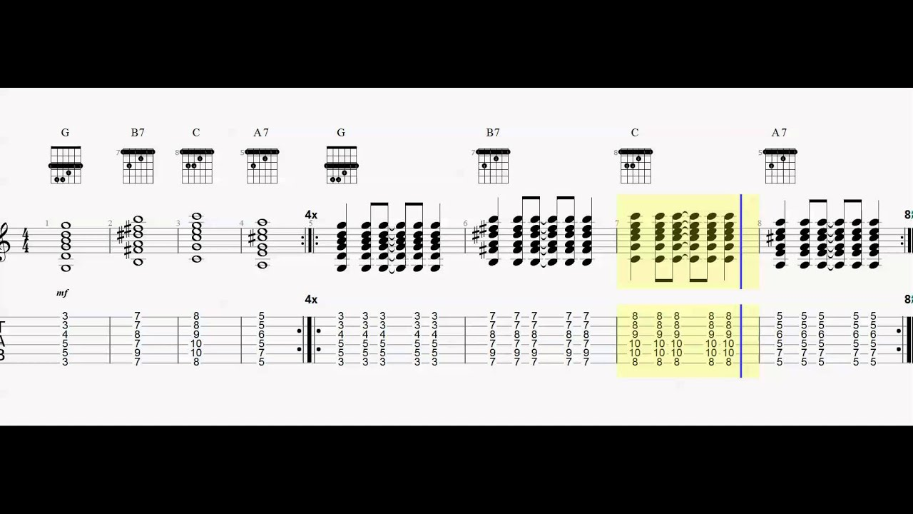 Chord practice dock of the bay play along barre chords youtube chord practice dock of the bay play along barre chords hexwebz Gallery