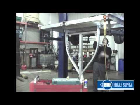 Triton 07984 Snowmobile Trailer Wishbone Tongue Spring Lift Kit Install