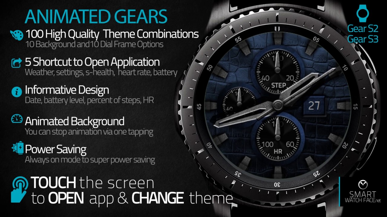 Eccezionale Animated Gears - watch face design for Samsung Gear S2-S3 - YouTube OM83