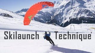 Спидфлаинг и спидрайдинг обучение. Старт на лыжах (speedflying skilaunch)