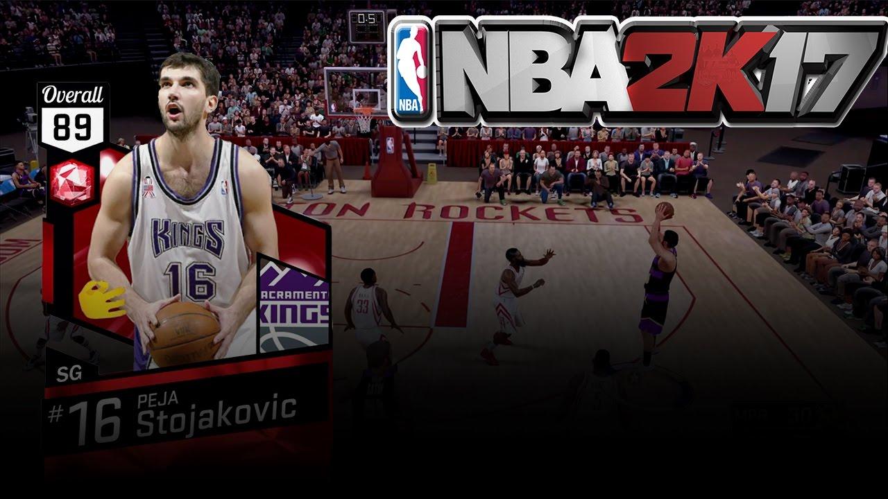 NBA 2K17 MY TEAM RUBY PEJA STOJAKOVIC DEBUT PEJA GOT THAT BURNER