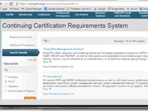 How to maintain your PMP Certification by earning PDU\'s - YouTube