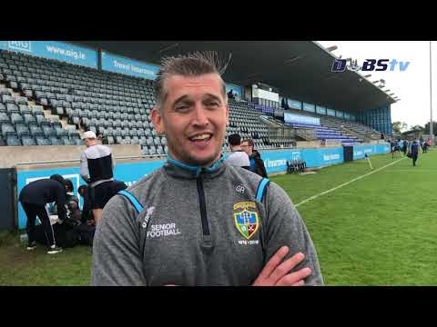 St Judes manager Gareth Roche speaks to Dubs TV after victory over Skerries Harps