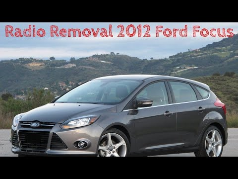 2012 Ford Focus Radio Removal