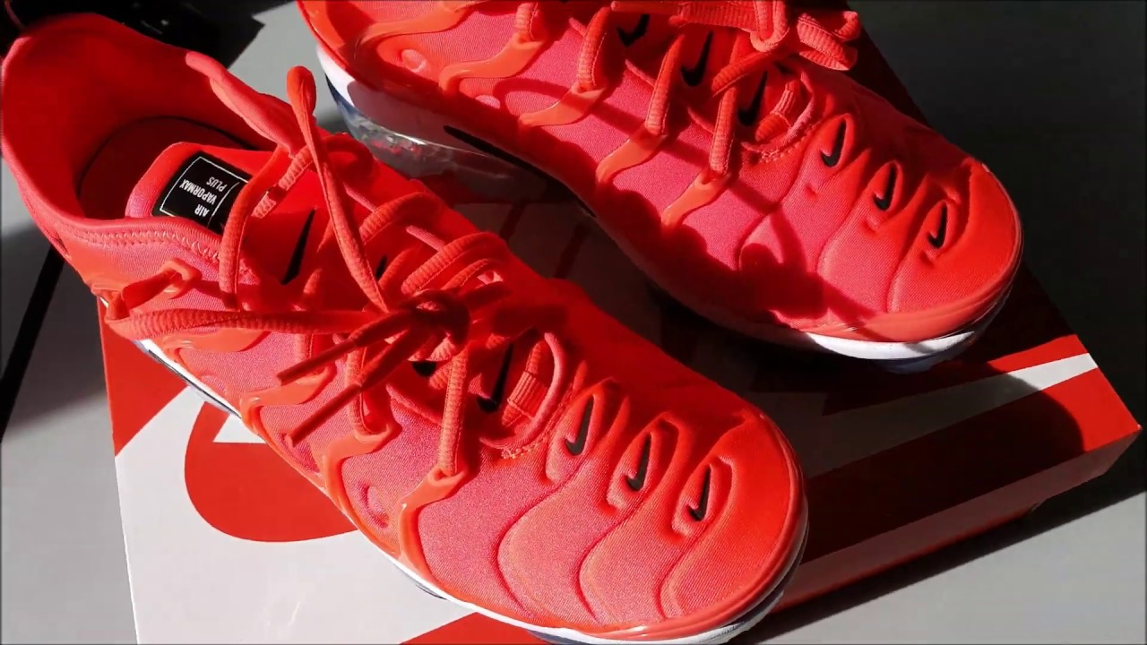 best website e711a 941ef Nike Vapormax Plus Crimson Bright unboxing Zalando