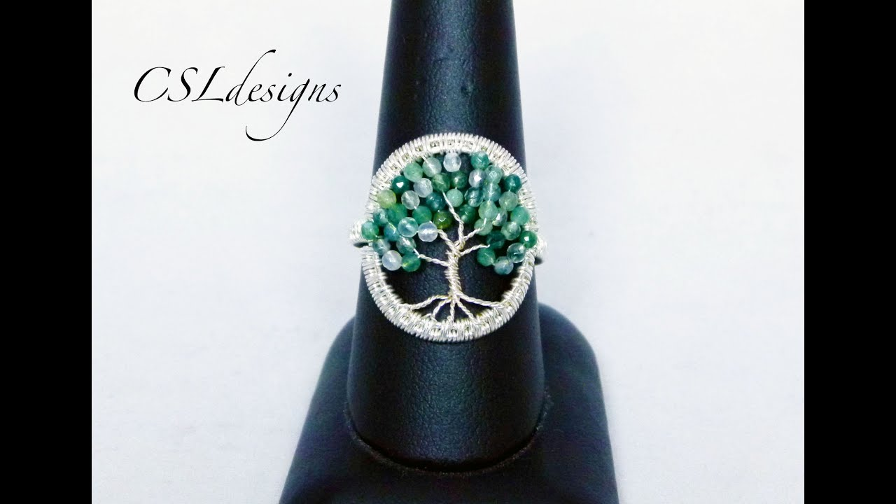 Tree of life wirework ring - YouTube