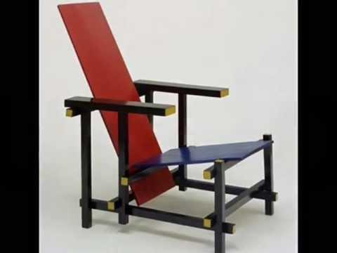 La silla azul y roja de gerrit rietveld youtube for Silla roja y azul