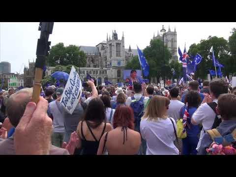 @CarolineLucas speaking at Peoples Vote March - 23rd June 2018 - London #PeoplesVoteMarch