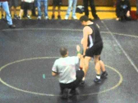 My son vs. a Riverview Middle School wrestler