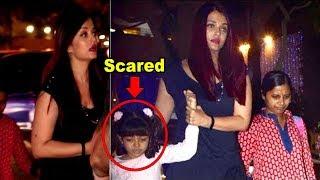 Aishwarya Rai Protects SCARED Daughter Aaradhya Bachchan From Paparazzi