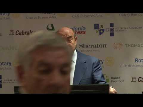 Domingo Cavallo disertó en el Rotary Club de Buenos Aires