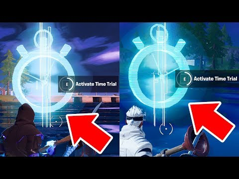 Complete The Swimming Time Trials At Lazy Lake And East Of Hydro 16 Fortnite