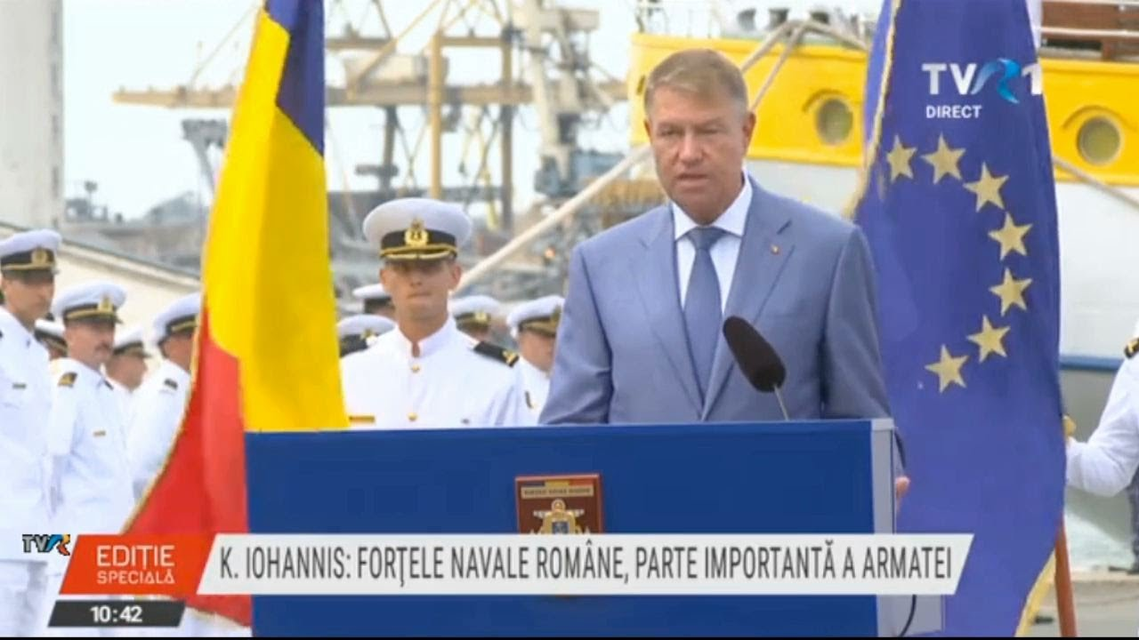 Mesajul preşedintelui Klaus Iohannis de Ziua Marinei 2020 (@TVR1)
