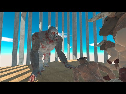 GORO THE GIANT In CAGE Vs MINOTAURS In Animal Revolt Battle Simulator