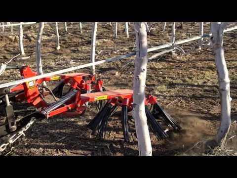 Shredding Organic Apple Prunings - Sonrise Orchards WA