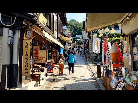 Japan Seaside Walk - Enoshima - My Favorite Daytrip from Tokyo! -  4K 60FPS Binaural Audio - Slow TV
