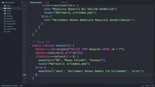 PHP Ziyaretçi Defteri Uygulaması - 12 - SON - Sınıfların Oluşturulması