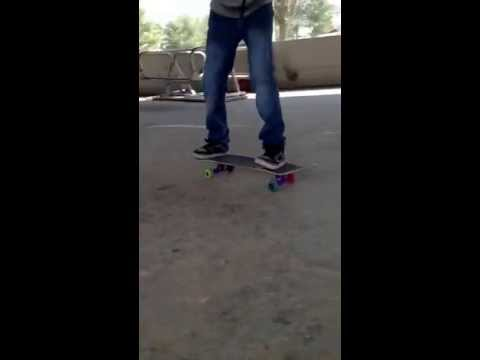 Haha our buddy skating.