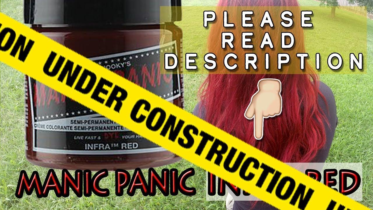 Diy Hair Manic Panic Infra Red Youtube