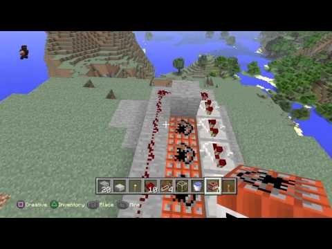 Minecraft Playstation Edition Tutorial How To Build Tnt Cannon