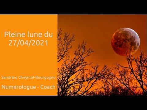Pleine lune du 27/04/2021 en numérologie