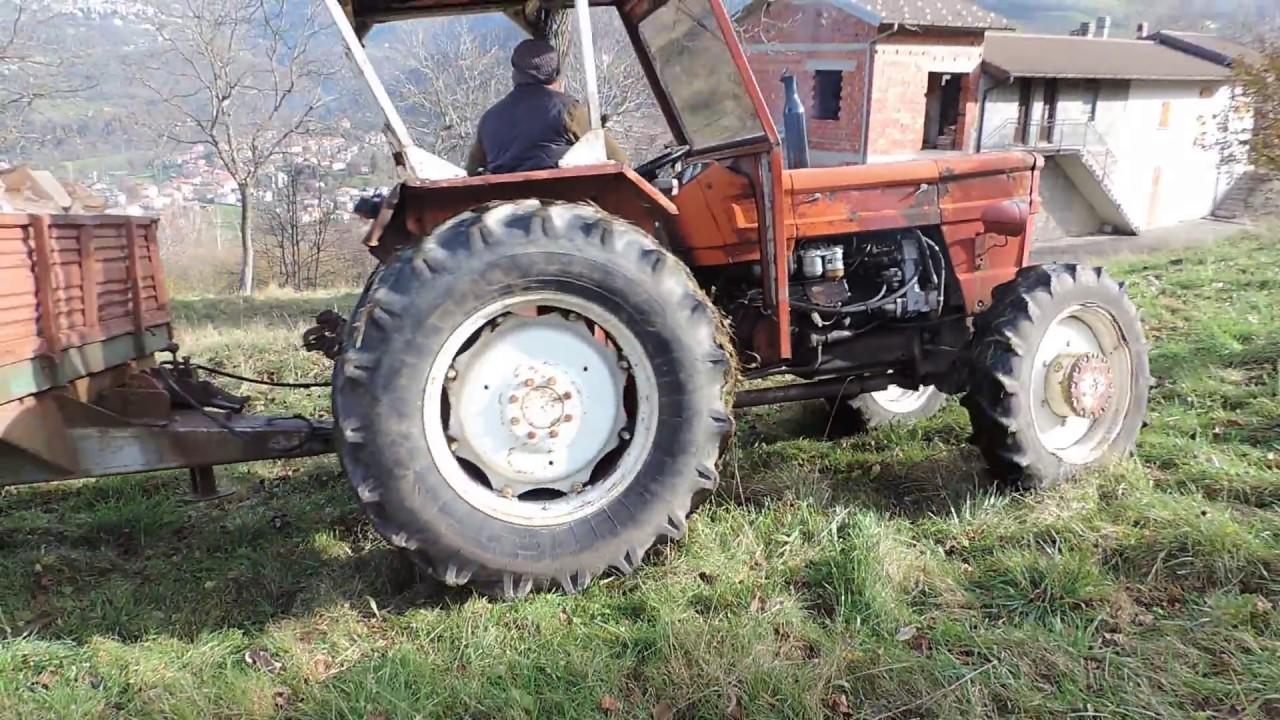 Fiat 640 Dt Mentre Trasporta Legna