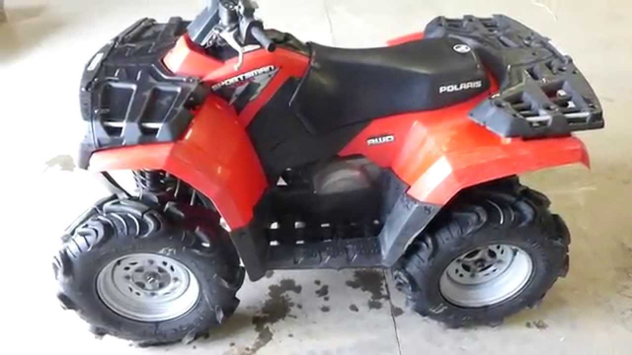 2008 Polaris Sportsman 400 HO 4X4 - YouTube