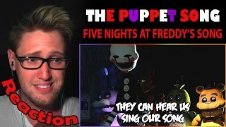 THE PUPPET SONG - FNAF (by TryHardNinja) REACTION! | HELPING HANDS |