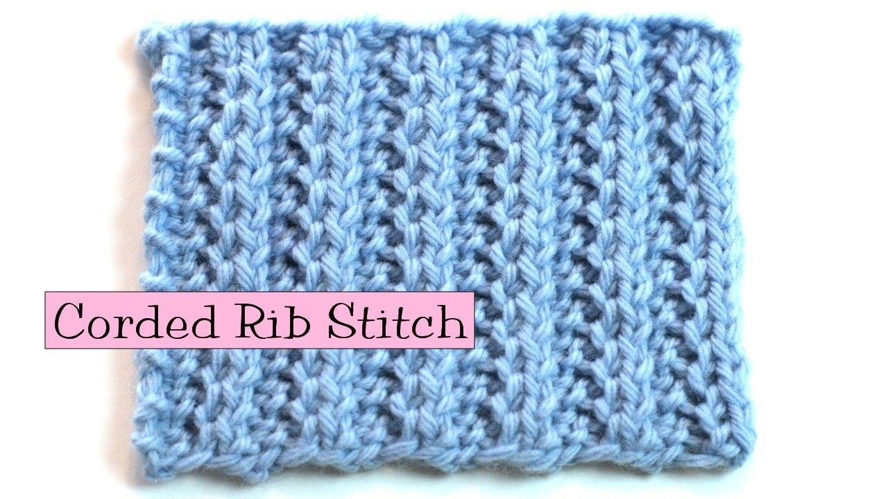 Knitting Ssk Instructions : Fancy stitch combo corded rib youtube