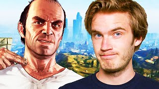 Pewdiepie TROLLING on GTA 5! (GTA V Funny Moments)