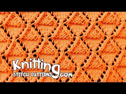 Stockinette And Garter Diamonds Lace Knitting 18 Youtube
