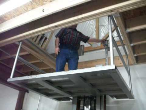 Home made wheelchair lift doovi for Diy home elevator plans